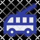Trolleybus Electric Transport Passenger Icon
