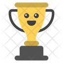 Smiley Trophy Winning Cup Winner Cup Icon