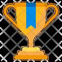 Trophy Ribbon Gold Icon