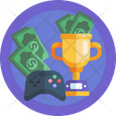 Esport Trophy Game Pad Money Icon