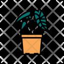 Tropical Houseplant House Icon
