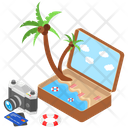 Tropical Area Holiday Beach Icon