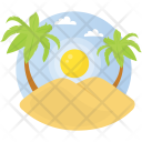 Tropical Sunday Sand Icon