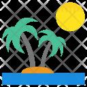 Island Tropical Beach Icon