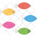 Fishes Cartoon Colored Icon