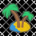 Tropical Trees Beach Island Icon
