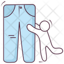 Apparel Pants Trousers Icon