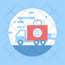 Truck Shopping Delivery Icon