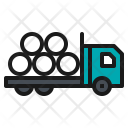 Truck Cement Tube Icon