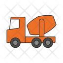 Cement mixer truck Icon