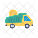 Truck Bitcoin Cryptocurrency Icon