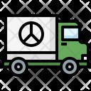 Truck Refugee Transportation Icon