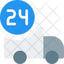 Truck Hours Delivery Time Delivery Icon