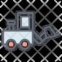 Truck Loader Fork Hoist Lifter Icon