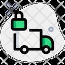 Truck Lock Lock Delivery Truck Box Icon