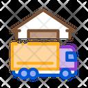 Truck Near House Icon