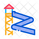 Water Slide Attraction Icon