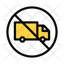 Truck Not Allowed Restricted Notallowed Icon