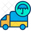 Truck Insurance Protection Shipment Icon