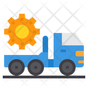 Truck Transportation Construction Icon