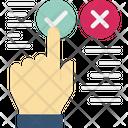 True False Check Finger Icon