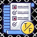 True False Test Icon