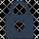 Heart Lock Holiday Love Icon