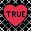 1 Love Heart Icon