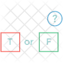 True Or False Mc Quiz Choice Question Icon
