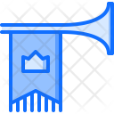 Trumpet Flag Crown Icon