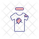 Torn Patch Tshirt Icon