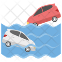 Tsunami Ocean Wave Natural Disaster Icon