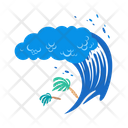 Tsunami Big Wave Water Icon