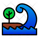 Tsunami Sea Wave Icon