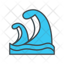 Tsunami Big Wave Catastrophe Icon