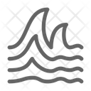 Tsunami Wave Ocean Icon