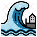 Tsunami Disaster Floods Icon