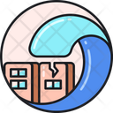 Tsunami Flood Water Wave Icon