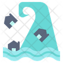 Tsunami Disaster Danger Icon