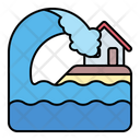 Tsunami Waves Home Icon