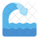 Tsunami Waves Sea Icon