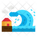 Tsunami Catastrophe Waves Icon