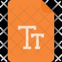 True Font Tt Icon