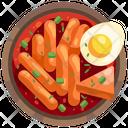 Tteok Bokki Pasta Egg Icon