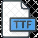 Ttf Font Type Icon