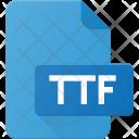 True File Ttf Icon