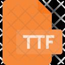 True Font Ttf Icon
