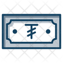Tugrik Currency Paper Money Banknote Icon