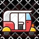 Tuk Tuk Rikshaw Auto Icon