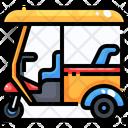 Tuk Tuk Rickshaw Transport Icon